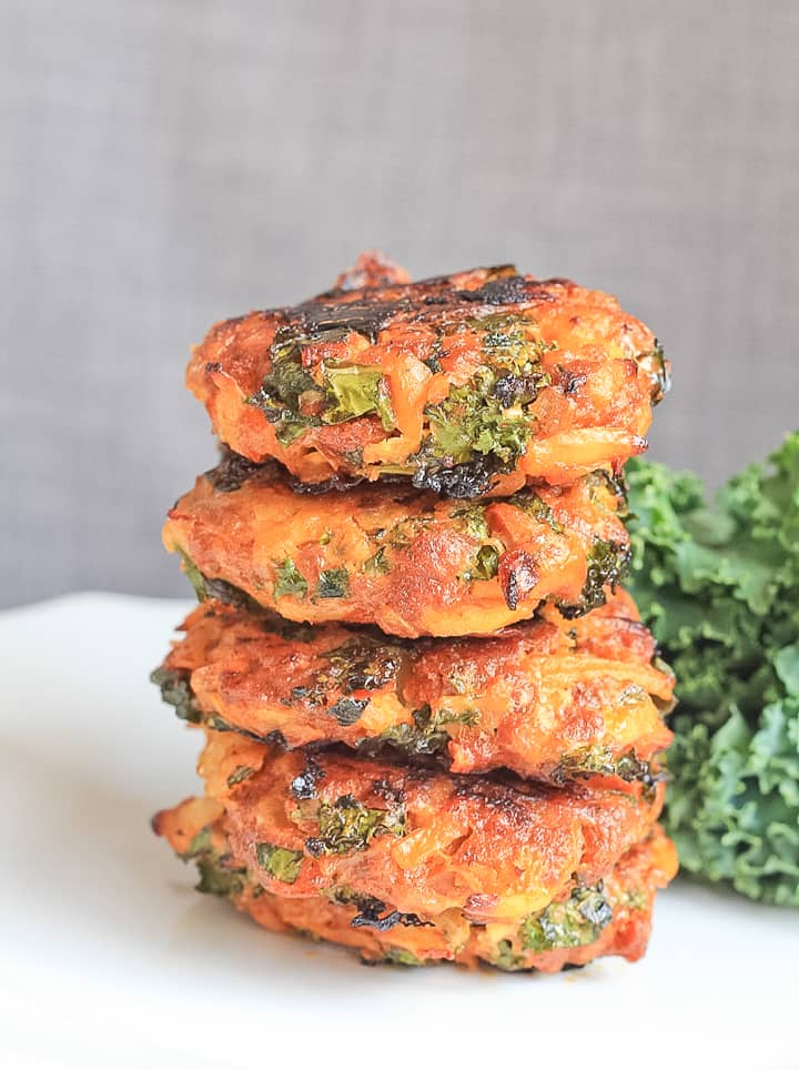 Stack of Baked Chorizo Veggie Breakfast Sausage Patties