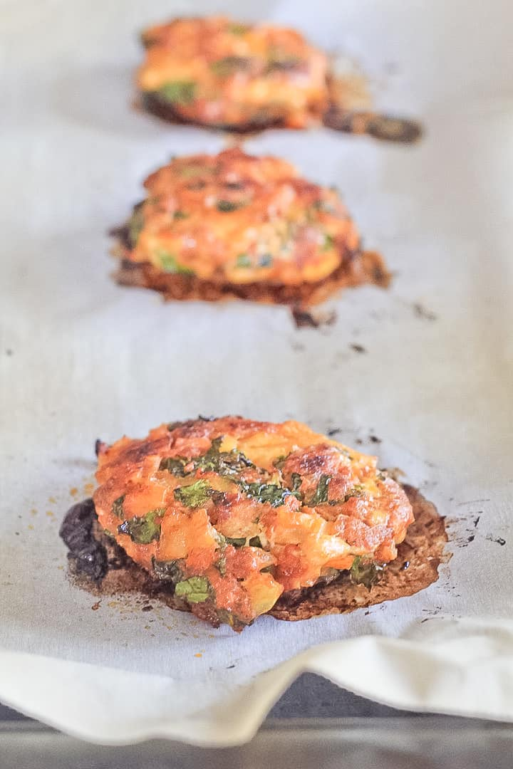Baked Chorizo Veggie Breakfast Sausage Patties