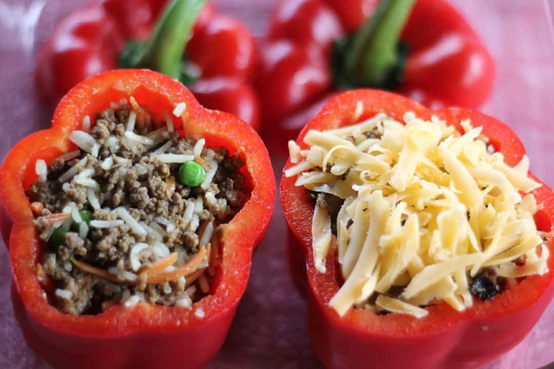 Indian Spiced Ground Beef Bell Peppers
