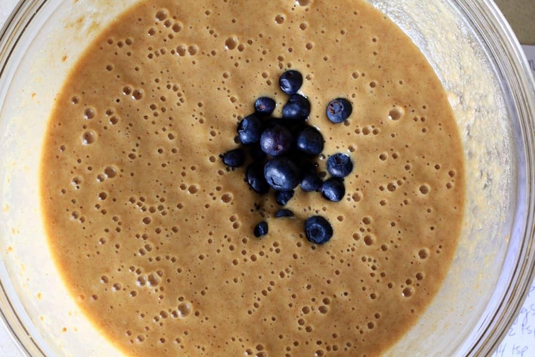 Paleo Lemon Blueberry Muffin Batter