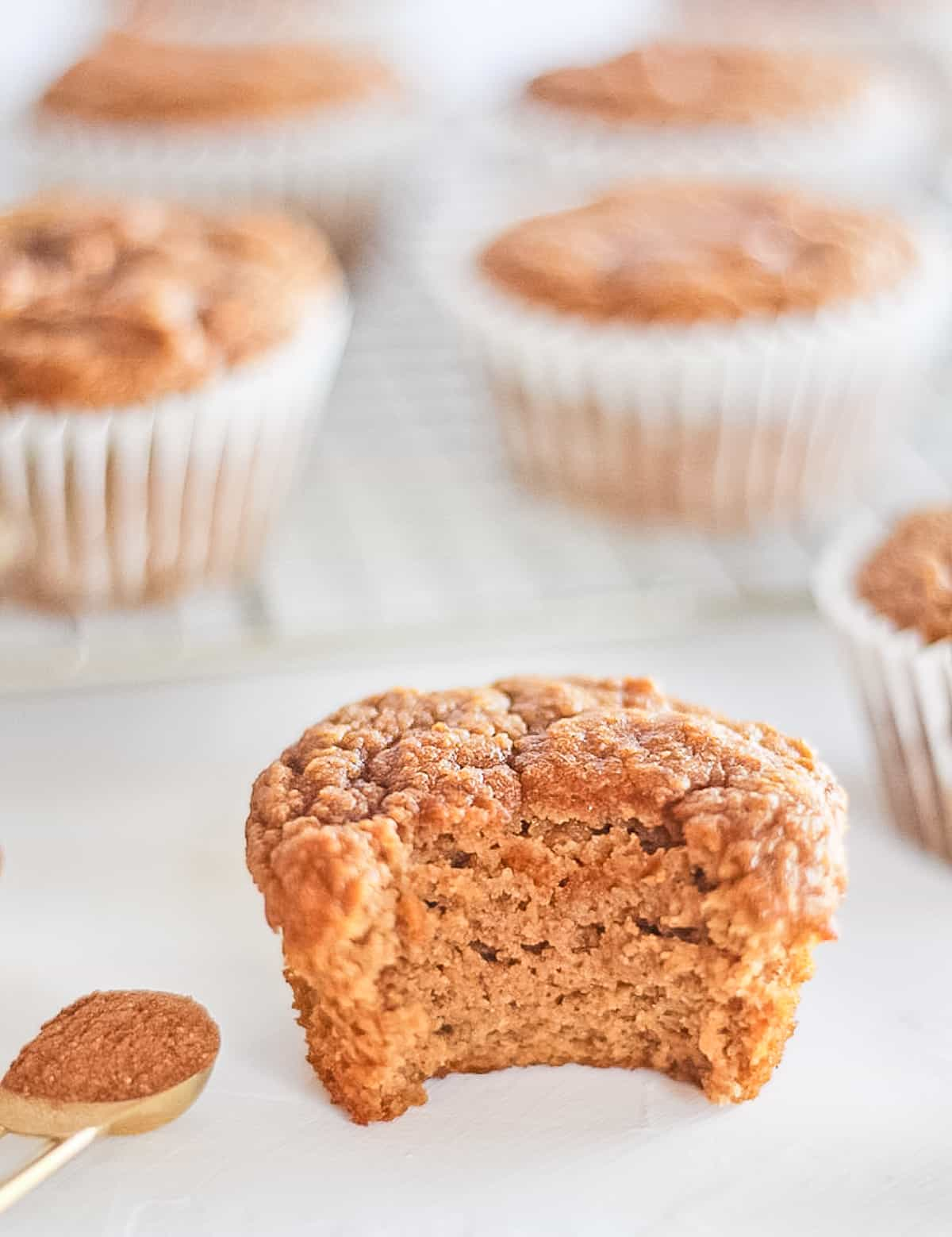 Bite out of a muffin.
