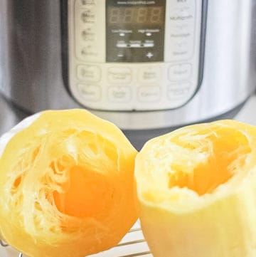 Spaghetti Squash cooked in the Instant Pot.