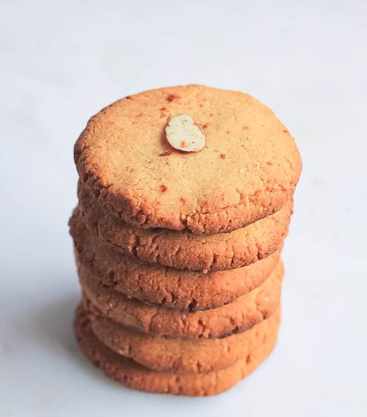 Almond flour shortbread cookie stalk.