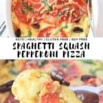 Keto Spaghetti Squash Pepperoni Pizza Bake Casserole