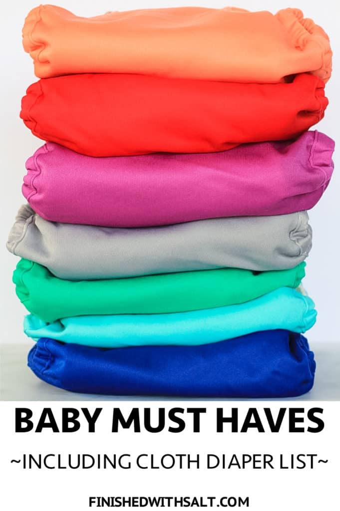 Stack of organic cotton cloth diapers