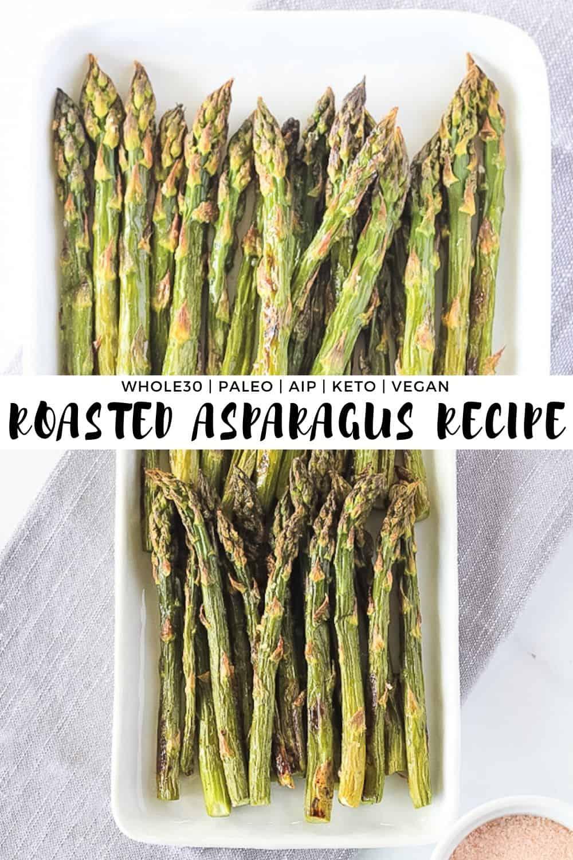 Asparagus on white plate.