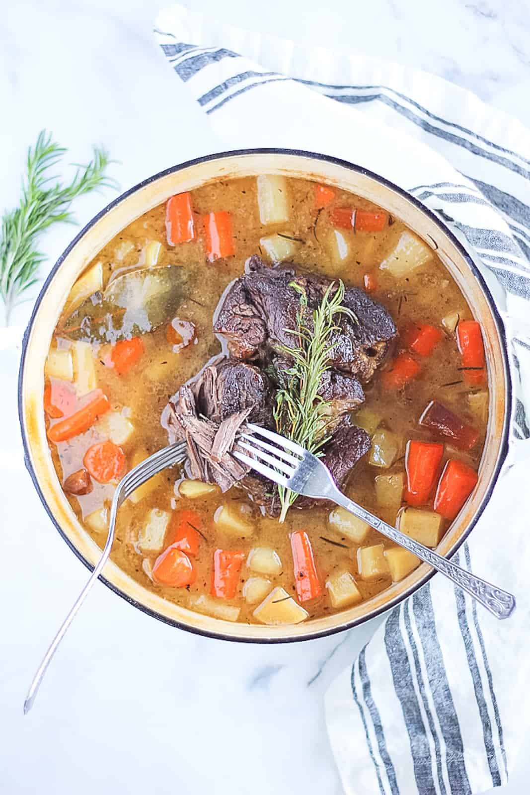 Whole30 pot roast is the perfect easy one pot family dinner.