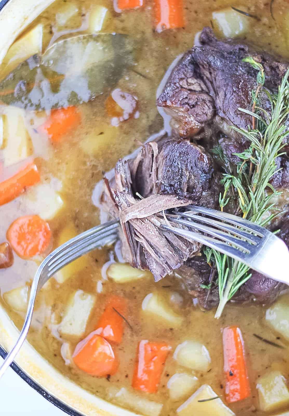 Dutch oven pot roast is the perfect easy one pot family dinner.