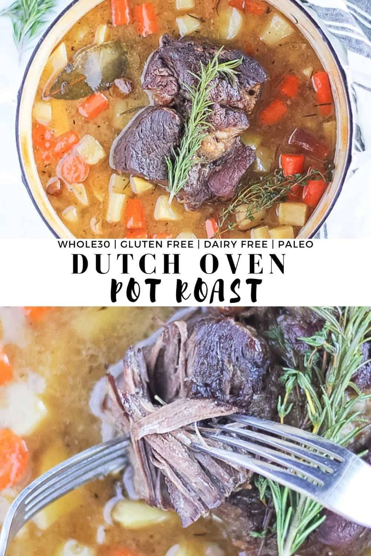 Dutch Oven Pot Roast Finished With Salt