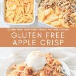 Step by step photos of how to make an apple crisp.