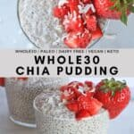 Chia seed pudding with coconut milk.